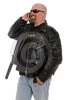 Tough Guy On The Phone Stock Images - Image: 22044524