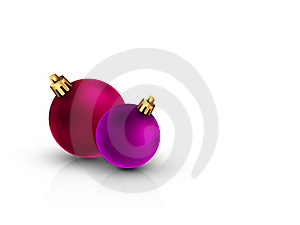 3D Christmas Balls On Clean White Background Stock Photo - Image: 22058360