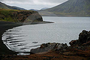 Black Sand Beach Royalty Free Stock Images - Image: 22058719