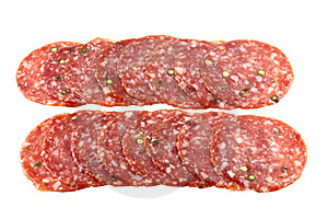 Fresh Spicy Pepper Salami / Pepperoni Stock Photos - Image: 22060743