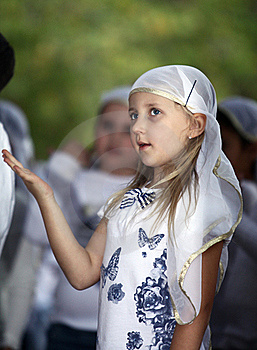 Girl On A Religious Holiday Royalty Free Stock Photos - Image: 22068528