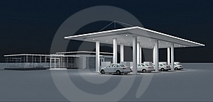 Gas Station Stock Images - Image: 22071424