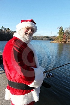 Last Fishing Break Before The Rush For Santa Stock Image - Image: 22082781