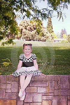 Ballerina On Brick Wall Stock Photos - Image: 22084903