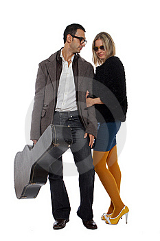 Musician With His Girlfriend Stock Photo - Image: 22088490
