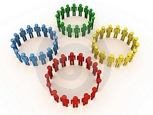 Social Circle Royalty Free Stock Photos - Image: 22089108