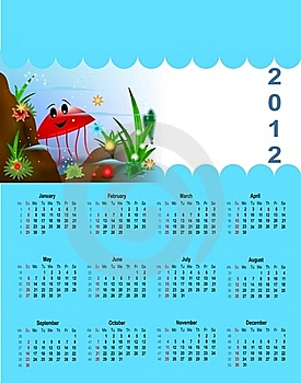 2012 Calendar For Children Stock Photography - Image: 22089262