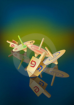 Hanukkah Traditional Spinning Tops Stock Image - Image: 22090691