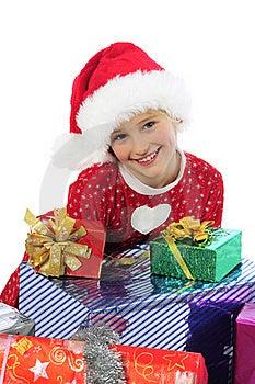 Funny Christmas Girl Stock Image - Image: 22091311