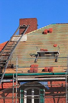 Repair A Roof Stock Image - Image: 2217371