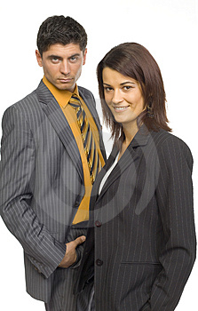 Two Business Persons Royalty Free Stock Photo - Image: 2218405