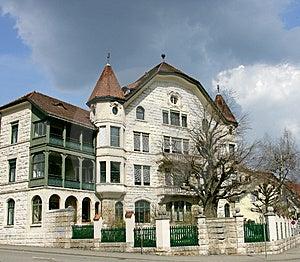 Nice Swiss Mansion 14 Royalty Free Stock Image - Image: 2218586