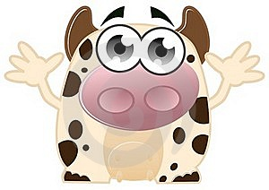 Cute Cow Royalty Free Stock Photography - Image: 22100297