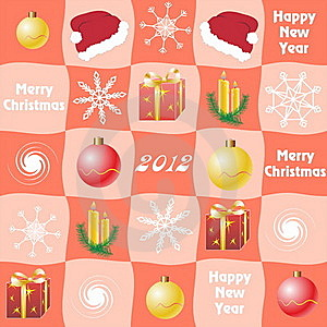 Christmas Checkered  Background Royalty Free Stock Photography - Image: 22103637