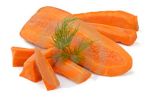 Cut Carrot Stock Images - Image: 22104134