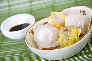 Close Up Dimsum Set Royalty Free Stock Photo - Image: 22108905