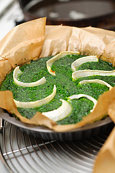 Spinach And Onion Quiche Stock Image - Image: 22110931