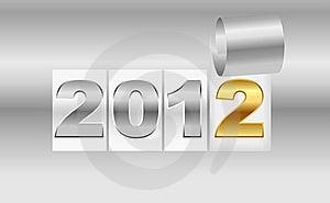 New Year's  2012 Metallic Background Stock Photos - Image: 22112173