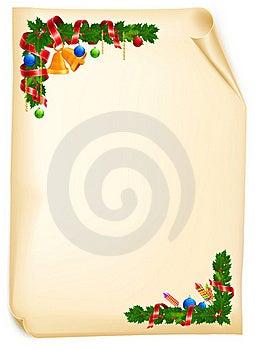 Christmas Angle Garland Card Stock Images - Image: 22116654
