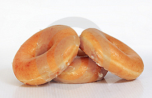 Sweet Creamy Soft Brown Donuts Stock Photography - Image: 22118902