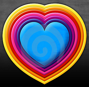 Rainbow Heart Stock Images - Image: 22119364