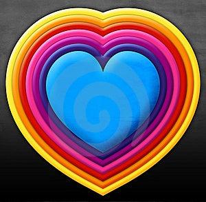 Rainbow Heart Stock Images - Image: 22119364