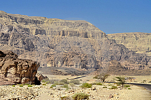 Geological Formations In Timna Park, Israel Royalty Free Stock Images - Image: 22120039