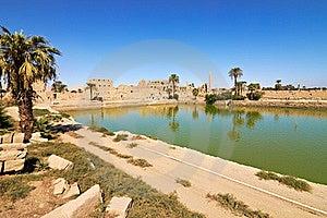 Sacred Lake In Temple Of Karnak, Egypt Stock Photos - Image: 22123063