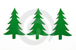 Three Fir Trees Royalty Free Stock Photos - Image: 22127828