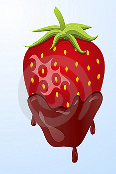 Strawberry Dipped In Chocolate Stock Photo - Image: 22130360