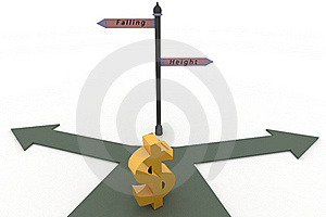 Dollar And Travelling Pointer Stock Photo - Image: 22133100