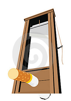 The Guillotine And A Cigarette Stock Image - Image: 22138121
