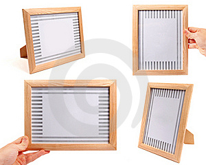 Wooden Picture Frames Royalty Free Stock Photos - Image: 22142358