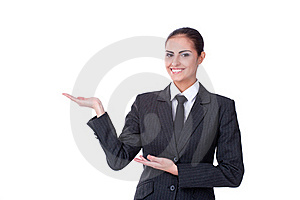 Young Businesswoman With An Empty Copyspace Royalty Free Stock Photos - Image: 22144048