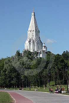Moscow. Church Of Vozneseniay In The Estate Kolome Stock Image - Image: 22144601