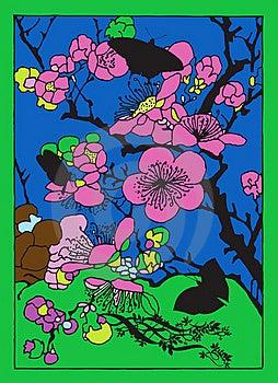 Cherry Flowers Royalty Free Stock Photo - Image: 22149245