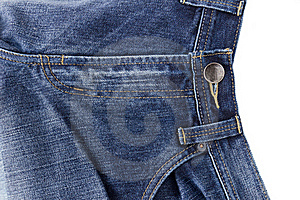 Front Blue Jeans Open Zip Stock Photo - Image: 22152490
