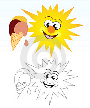 Sun And Ice Cream Stock Images - Image: 22157024