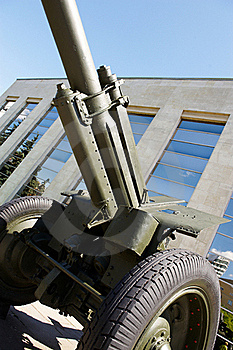 Soviet Howitzer In Museum Royalty Free Stock Images - Image: 22157129