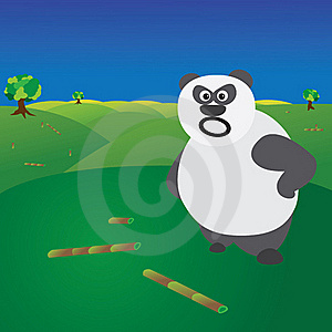Deforestation Concept - Angry Panda Without Food Stock Images - Image: 22168204