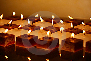 Group Of Candles Low Key Stock Photos - Image: 22172253