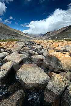 Landscape With Rivers. Himalayas Stock Photography - Image: 22175222