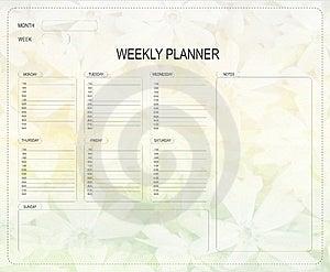Wöchentlicher Planer Stockfotografie - Bild: 22177652