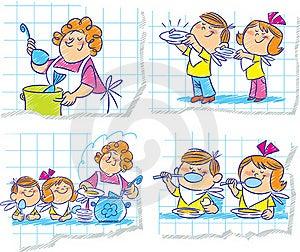 Mum's Dinner Stock Photo - Image: 22178200