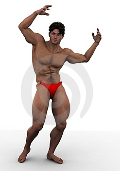 Flexing His Muscles Stock Photography - Image: 22179602