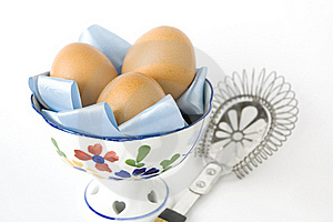 Eggs In Bowl With Kitchenware Stock Photos - Image: 22181113