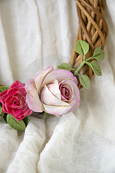Roses On Garland Stock Image - Image: 22181141