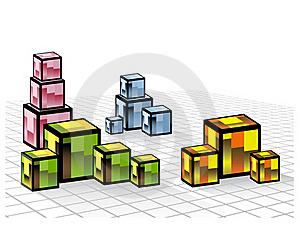 Colored Cubes Royalty Free Stock Image - Image: 22183466