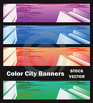 Banners On City Theme Stock Image - Image: 22184291