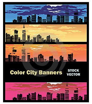 Color City Banner Royalty Free Stock Photo - Image: 22184345